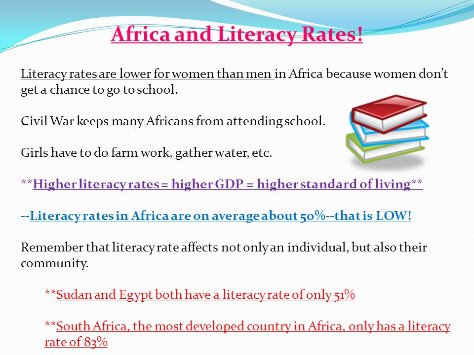 Africa and Literacy Rates.
