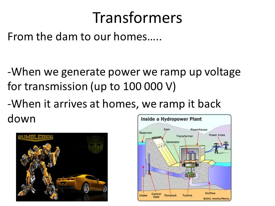 Transformers From the dam to our homes…..