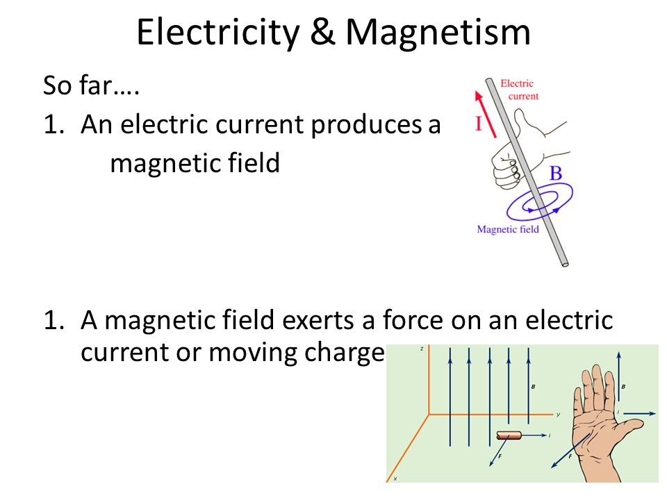 Electricity & Magnetism So far….