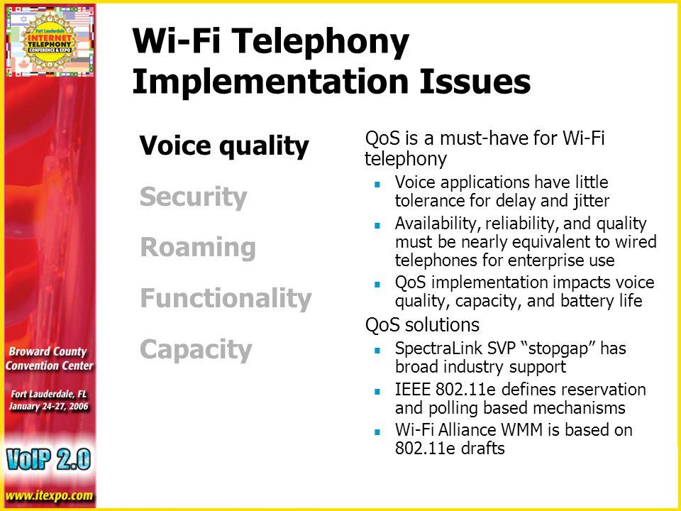 Deploying Wi-Fi Telephony in the Enterprise Ben Guderian
