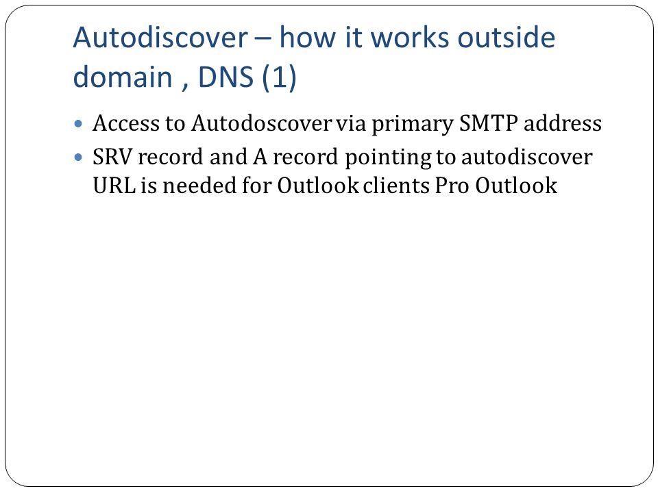 Zbyněk Saloň Exchange 2013 – Autodiscover - Overview  - ppt