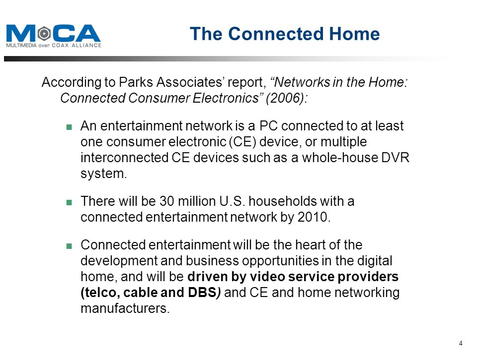 The Standard for Home Entertainment Networks Overview. - ppt download