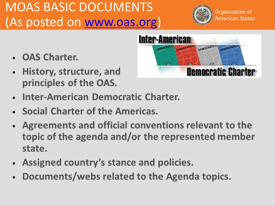 MOAS BASIC DOCUMENTS (As posted on   OAS Charter.