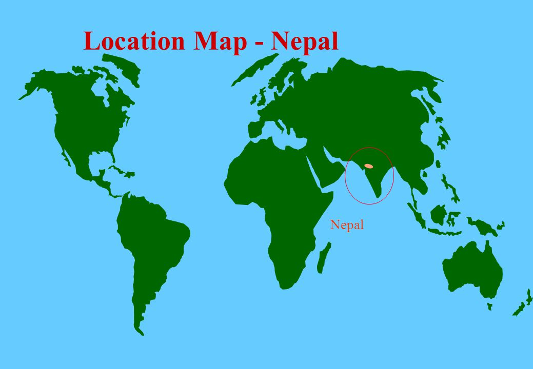 World Map Napal.Location Map Nepal Nepal Source Great Rivers Of The World