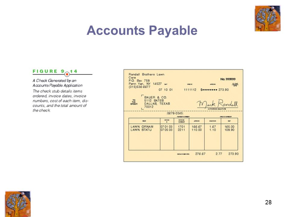 28 Accounts Payable
