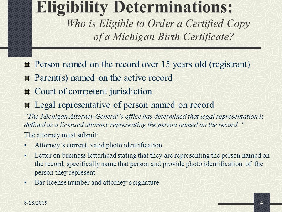8/18/20151 authenticating identity of applicants applying for birth ...