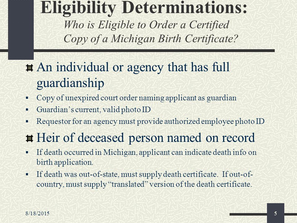 8/18/20151 authenticating identity of applicants applying for birth