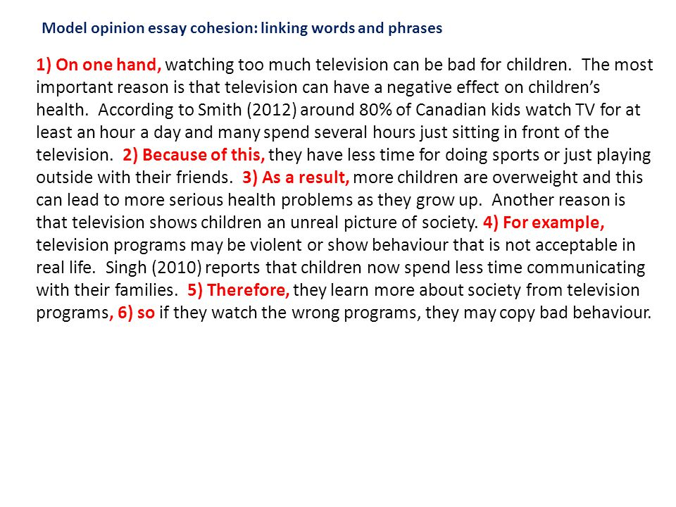 Watching television is harmful for children essay