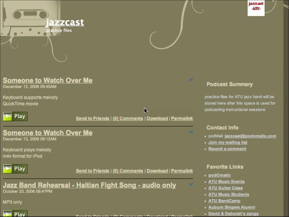 Jazz on the Run: Podcast Your Rehearsals Deborah Barber, ATU