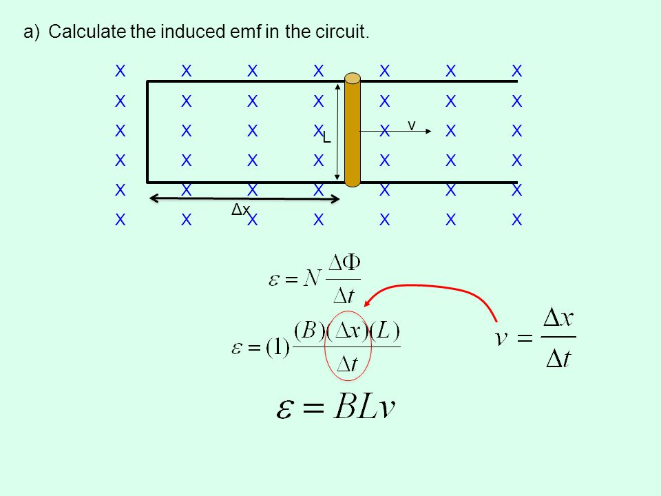a)Calculate the induced emf in the circuit.