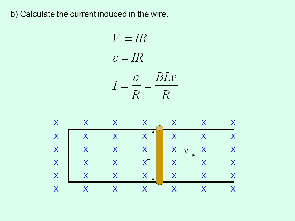b) Calculate the current induced in the wire.
