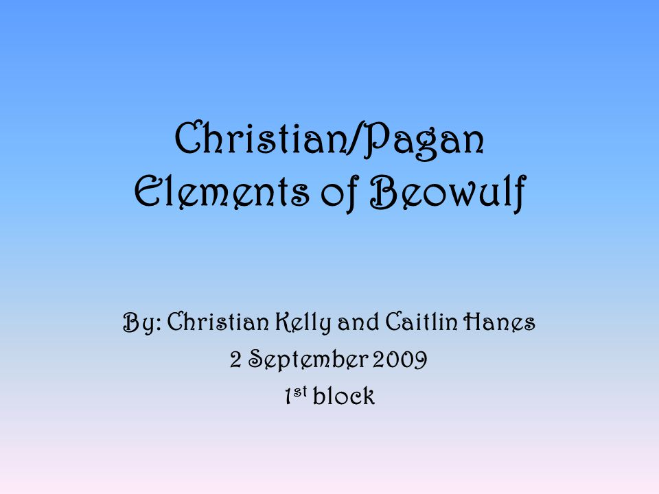 christian themes in beowulf