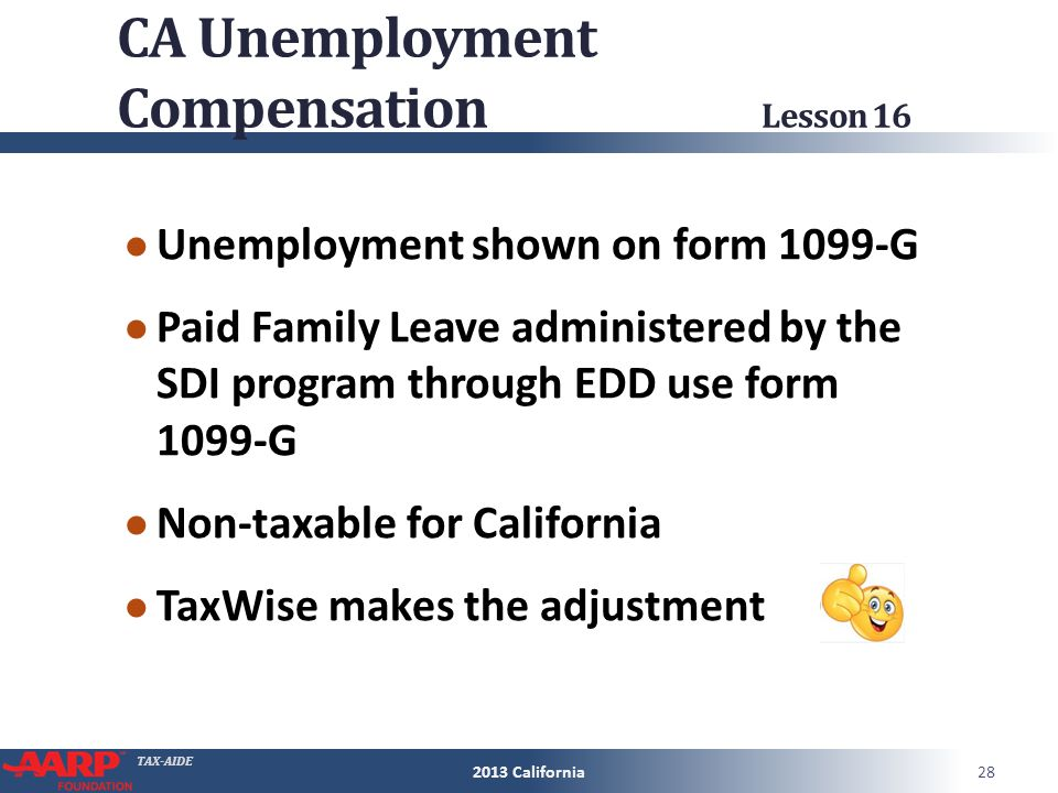 Tax Aide California Supplement To 2013 Nttc Training Slides