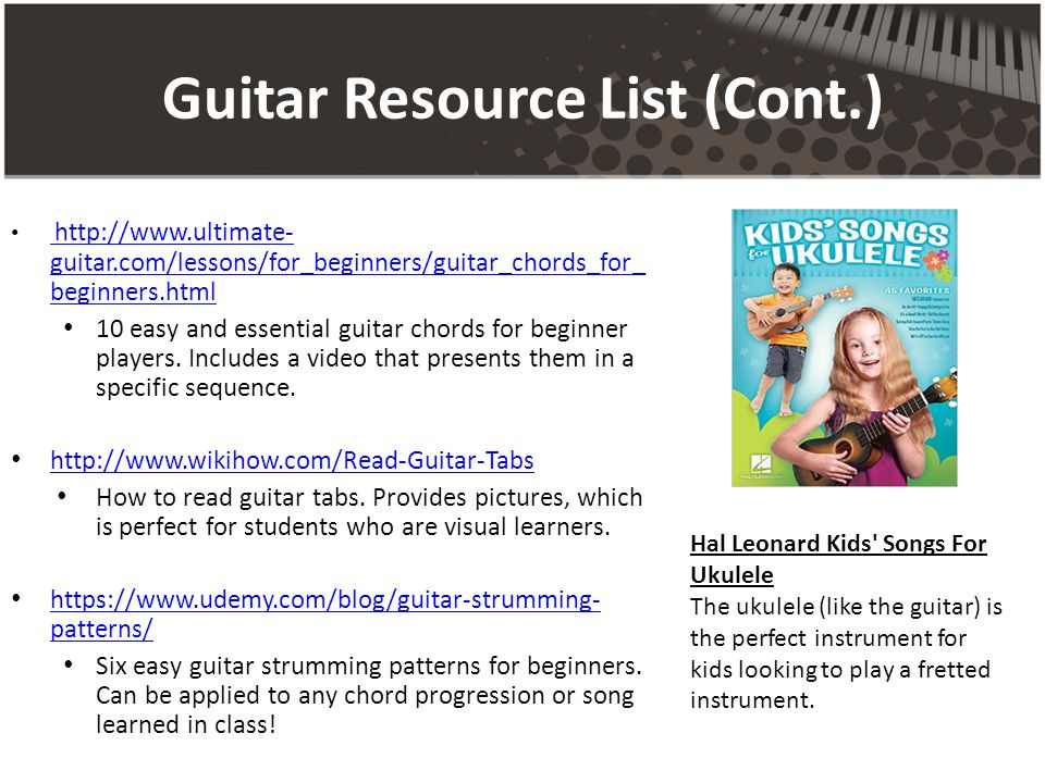 GUITAR & RECORDER Resource Binder Emily Longo. TABLE OF CONTENTS ...
