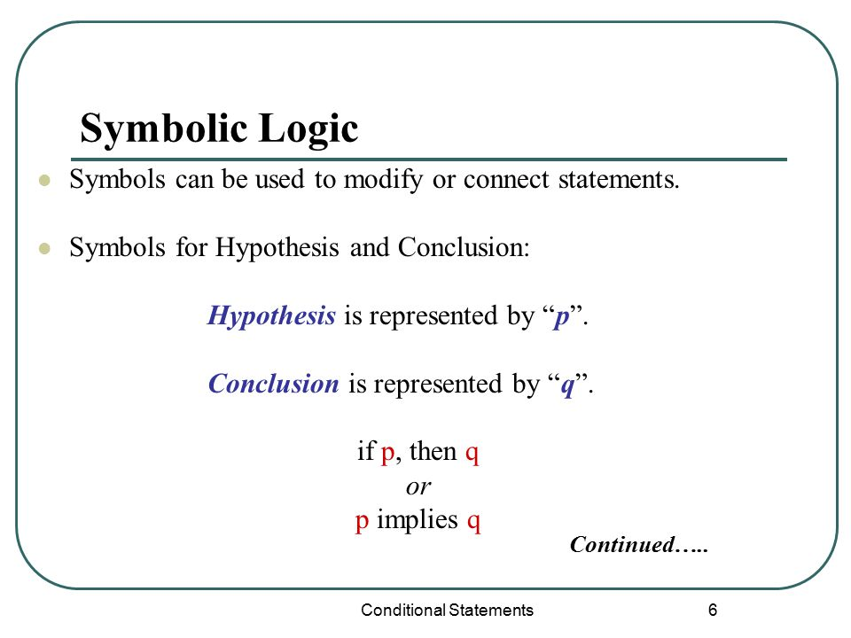 1 U1 C1 L1 Logic Conditional Statements Conditional Statements 2