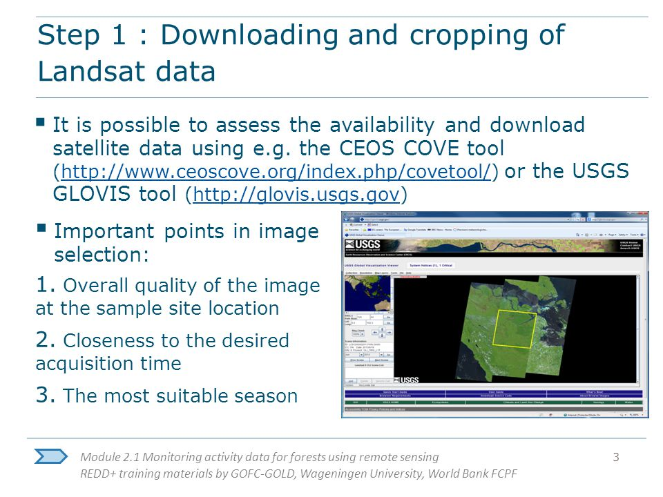 Module 2 1 Monitoring activity data for forests using remote