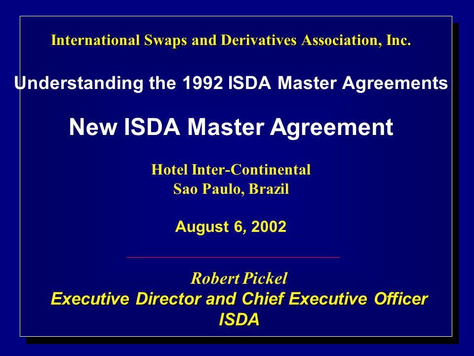 International Swaps And Derivatives Association Inc International