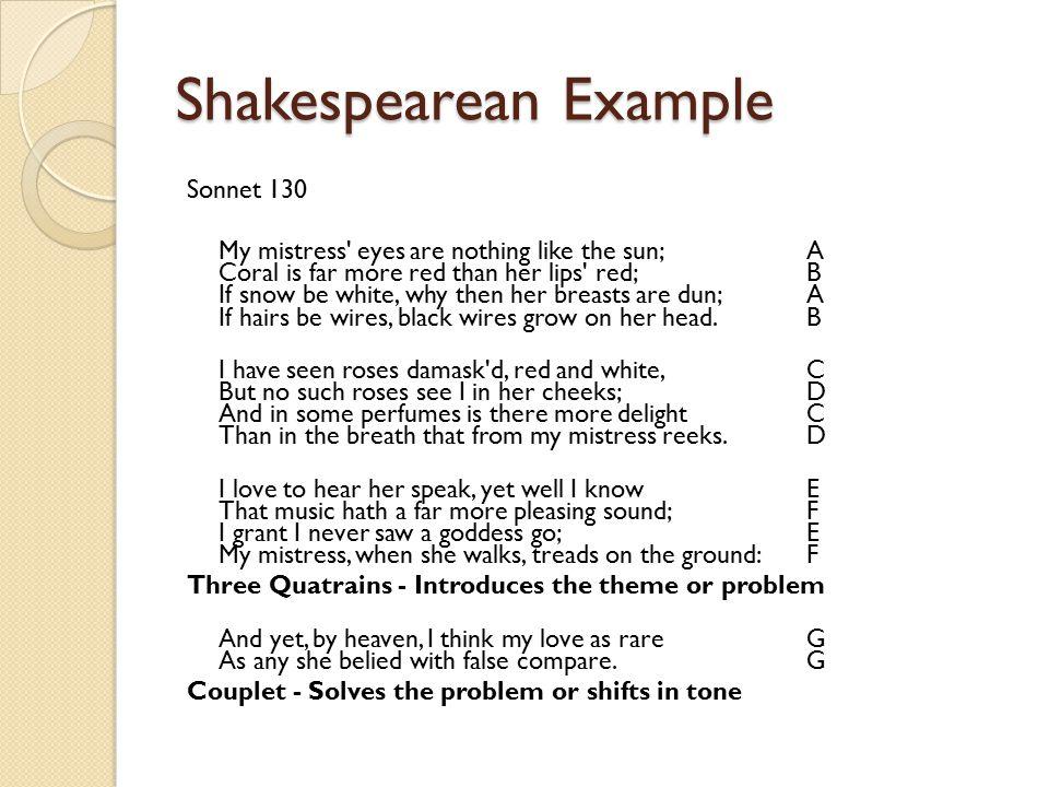 sonnets a sonnet has 14 lines must be written in iambic