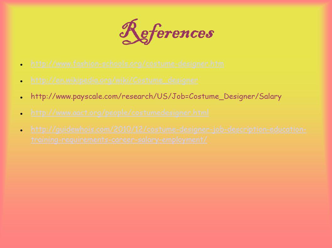 8 References ...  sc 1 st  SlidePlayer & Costume Designer Dolly Urnezis Professor Libolt Fashion 105 April 28 ...