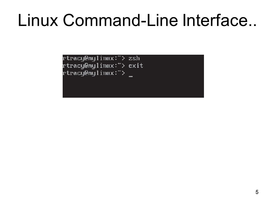5 Linux Command-Line Interface..
