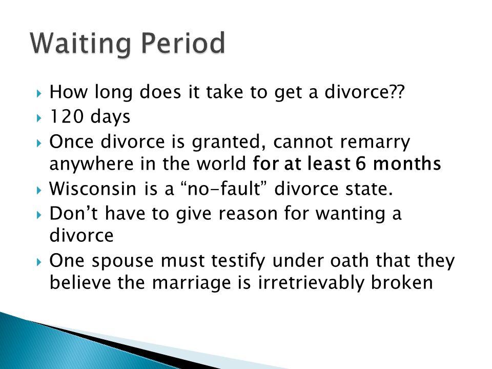 wisconsin divorce waiting period