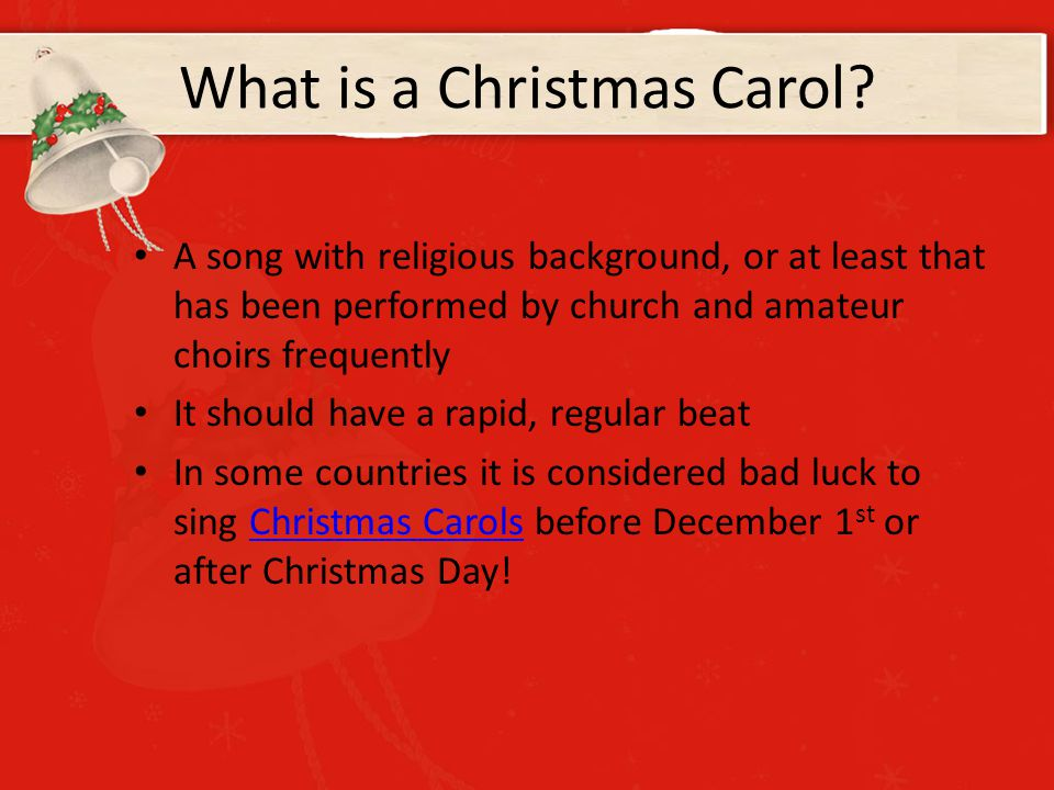 what is a christmas carol