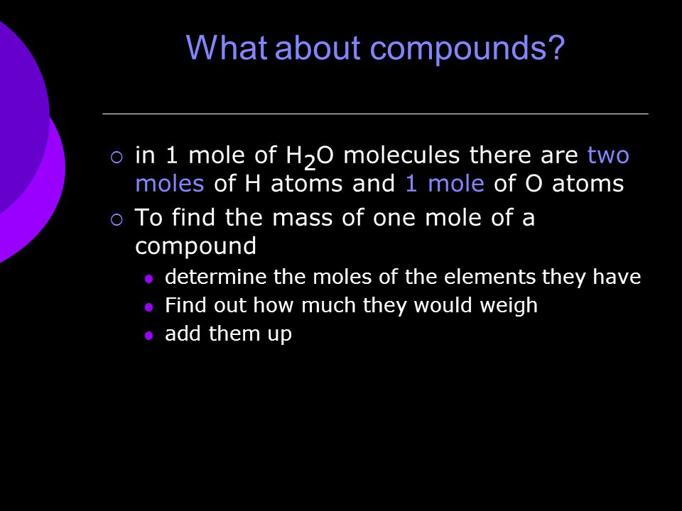 What about compounds.