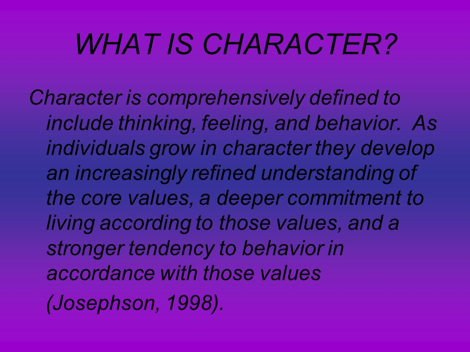 CHARACTER REALLY COUNTS Character Education For Adolescents  - ppt
