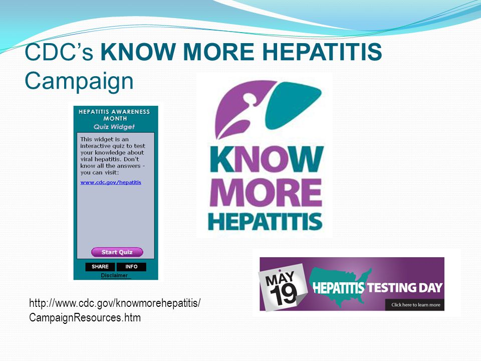 CDC's KNOW MORE HEPATITIS Campaign   CampaignResources.htm