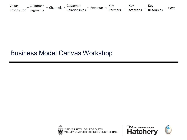 The Entrepreneurship Hatchery  Business Model Canvas