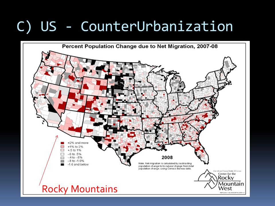 C) US - CounterUrbanization Rocky Mountains