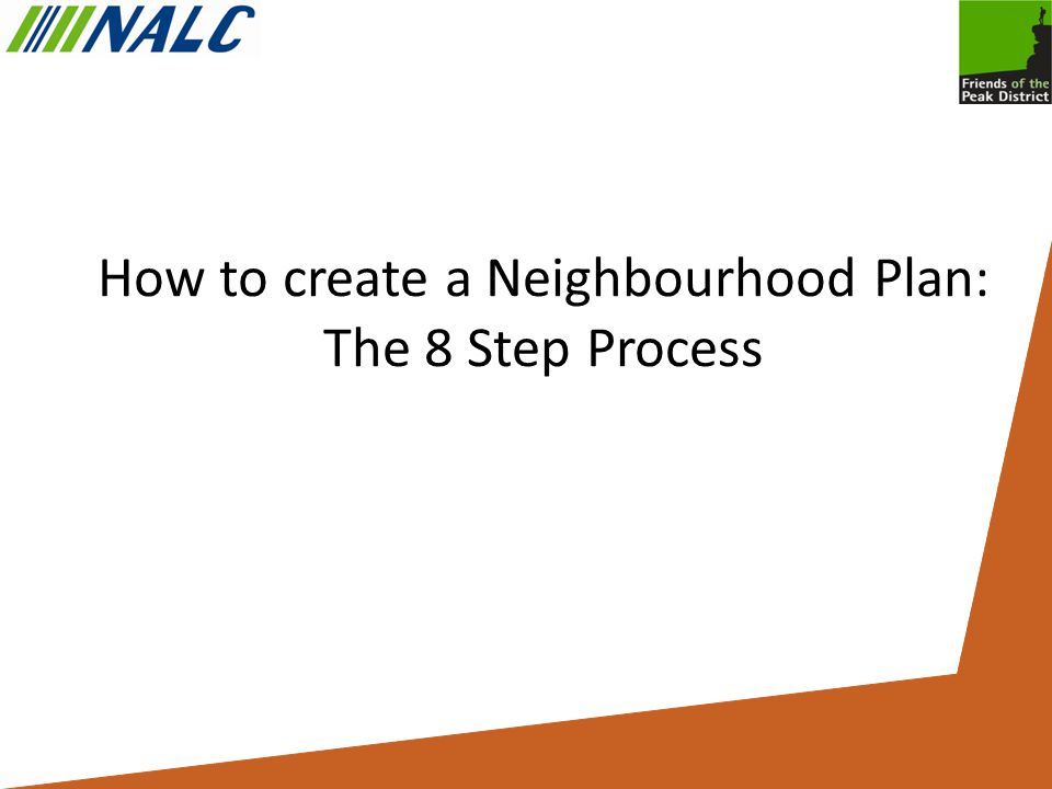 How to create a Neighbourhood Plan: The 8 Step Process