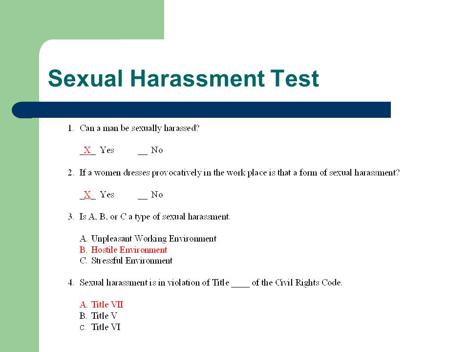 Sexual Harassment Test