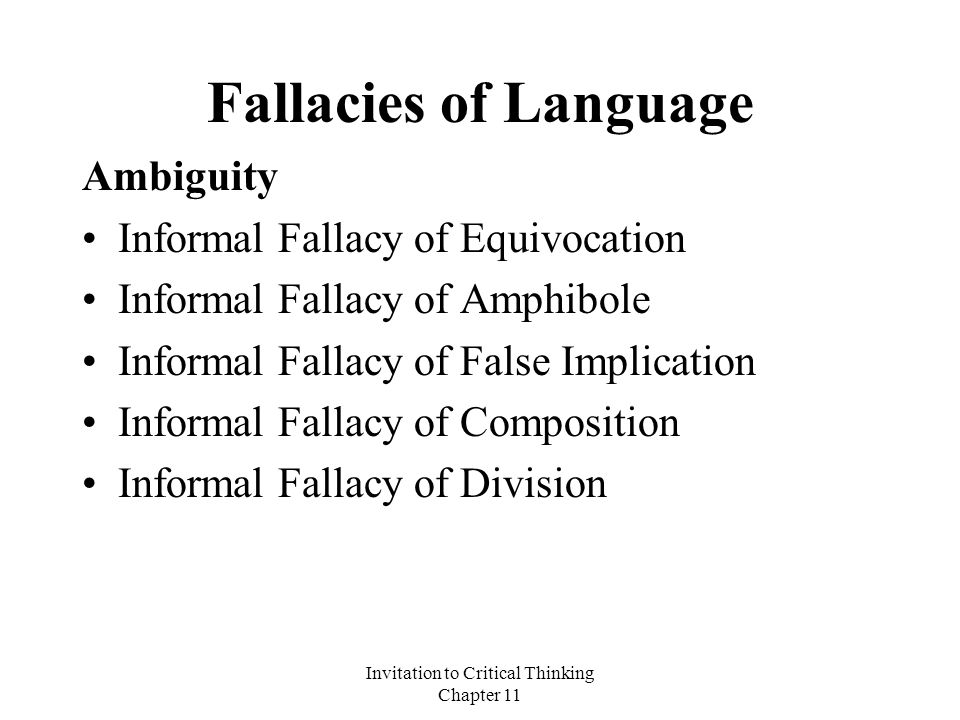 fallacies critical thinking