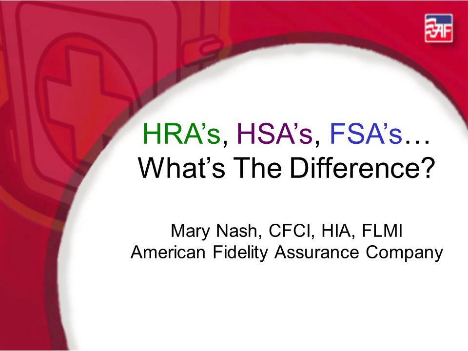 HRA's, HSA's, FSA's… What's The Difference.