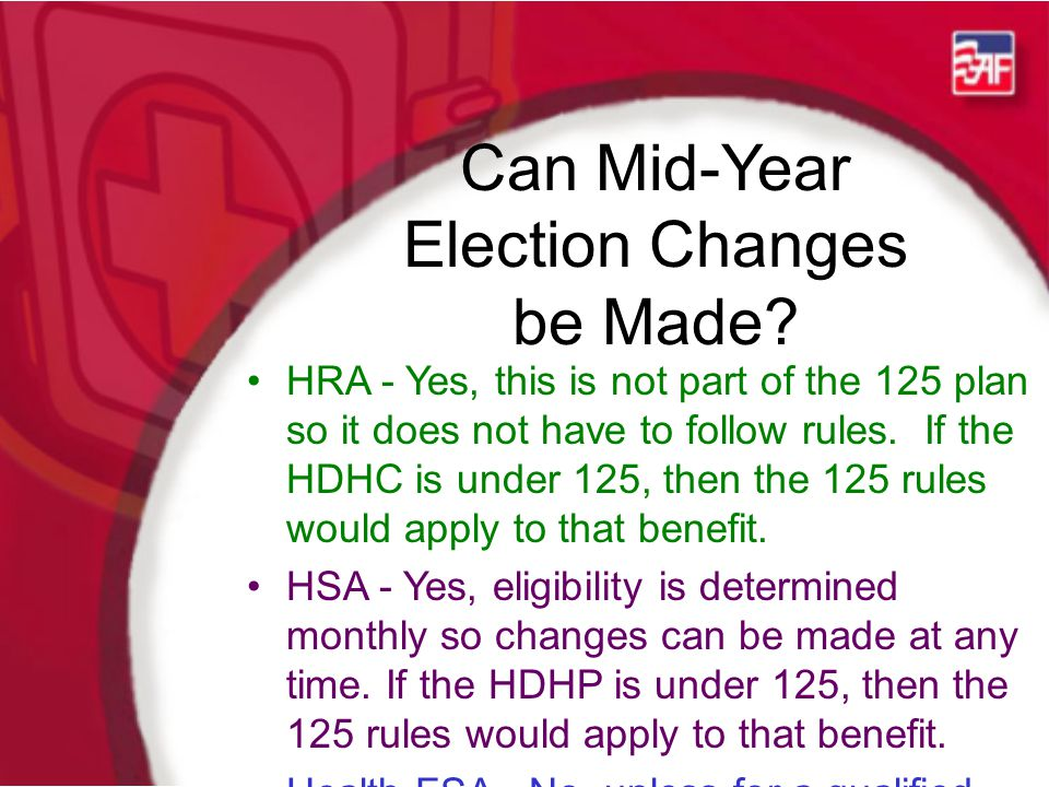 Can Mid-Year Election Changes be Made.