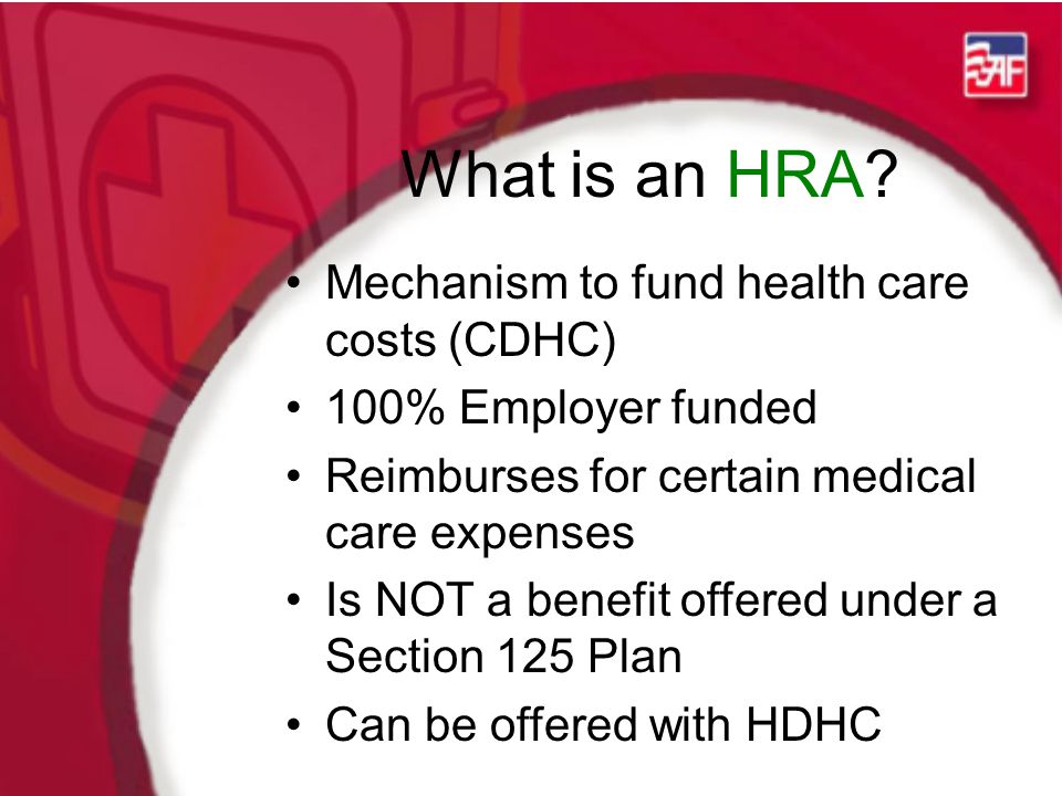 What is an HRA.