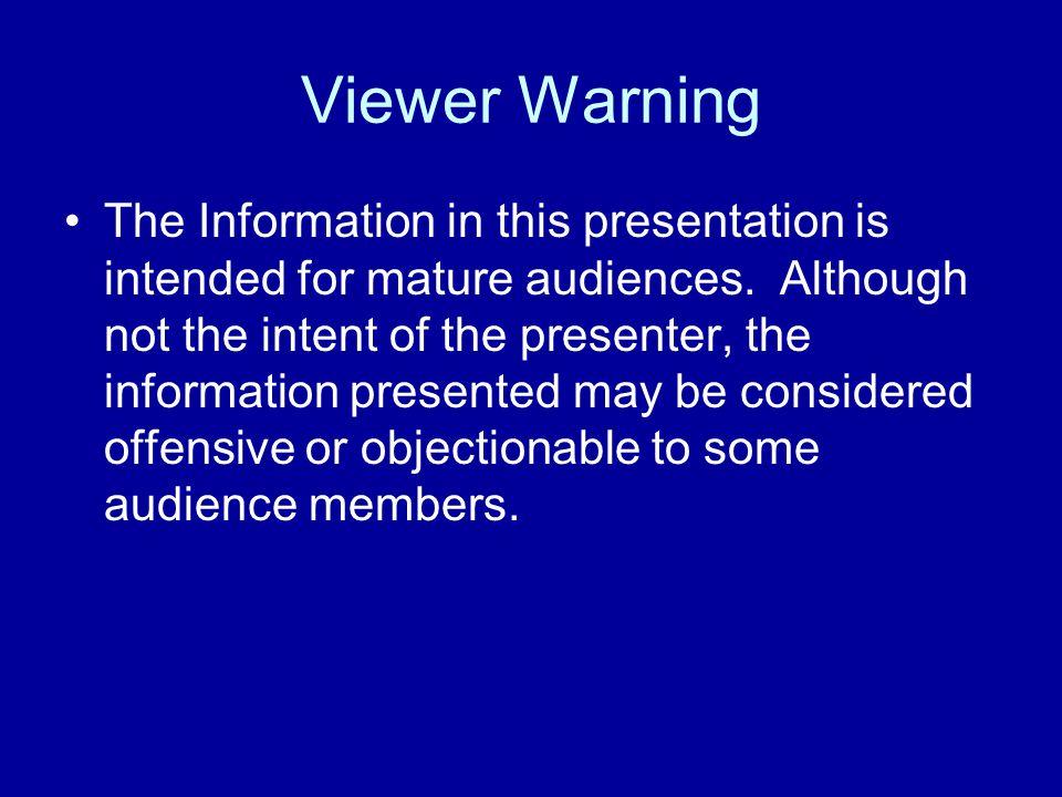 Entertaining mature audience warning the