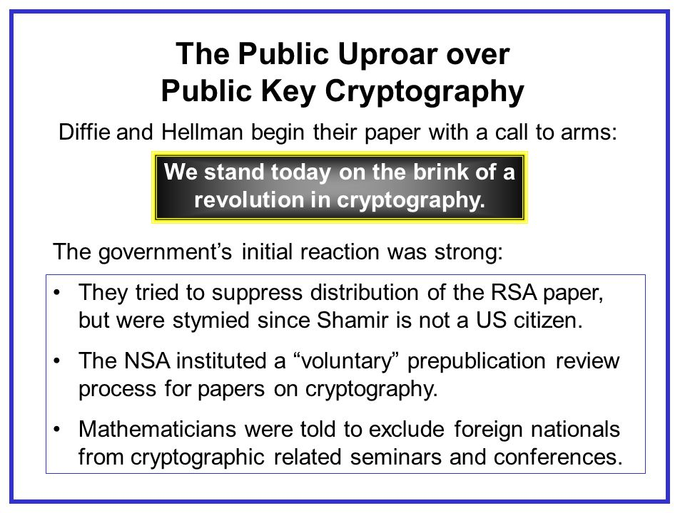 The Hitchhiker's Guide to Public Key Cryptography Joseph