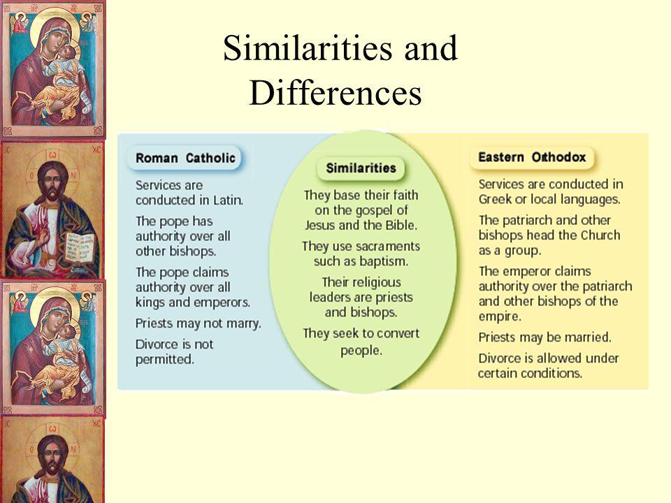 similarities between roman catholic and eastern orthodox