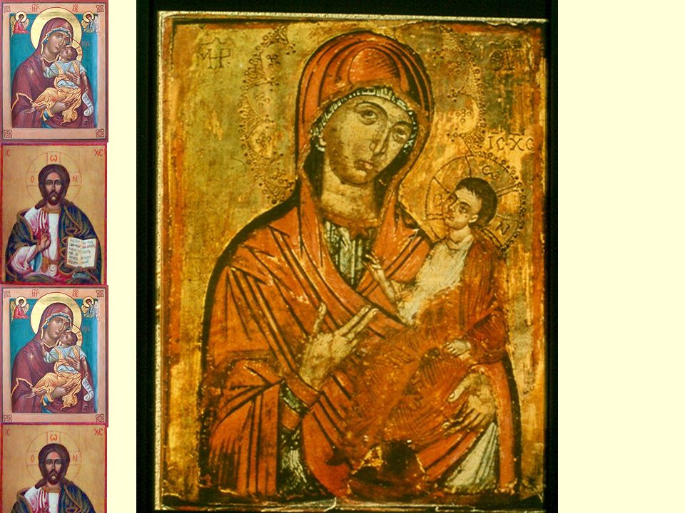 What is an Icon. Religious images that can be prayed to.