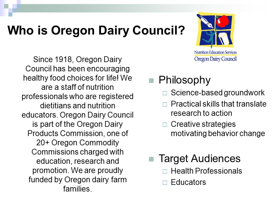 Who is Oregon Dairy Council.