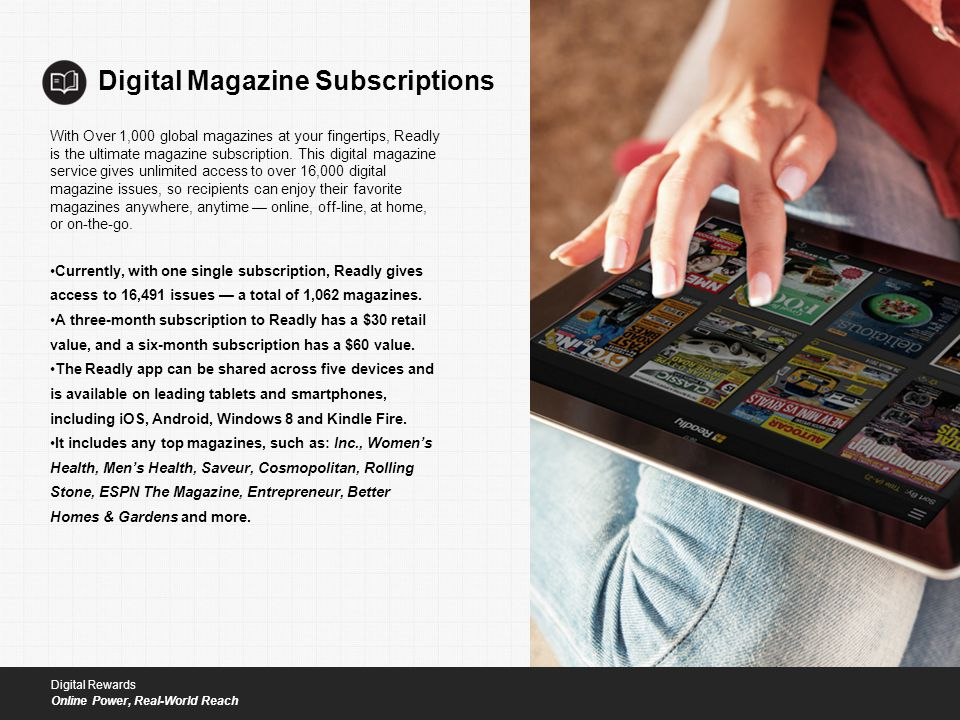 Digital Magazine Subscriptions With Over 1,000 global magazines at