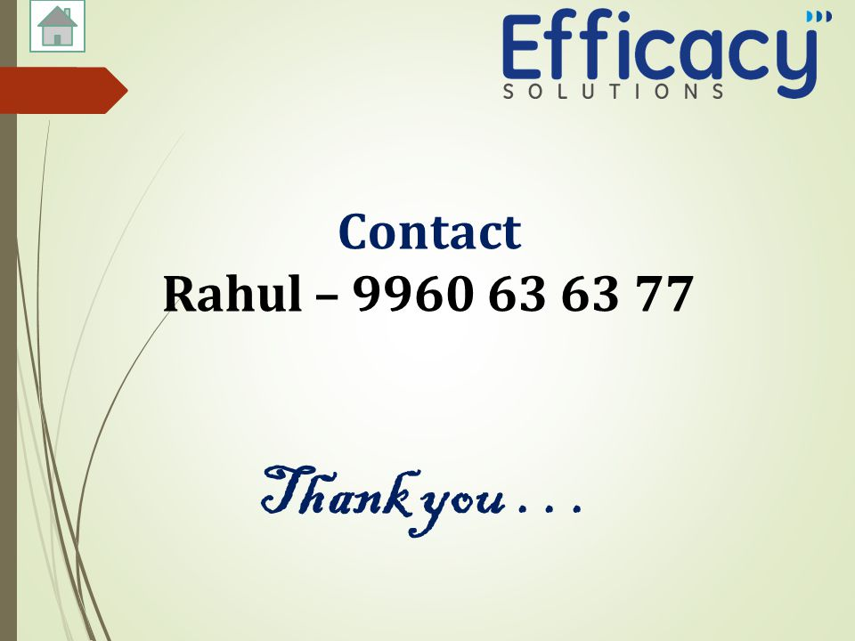 Contact Rahul – Thank you...