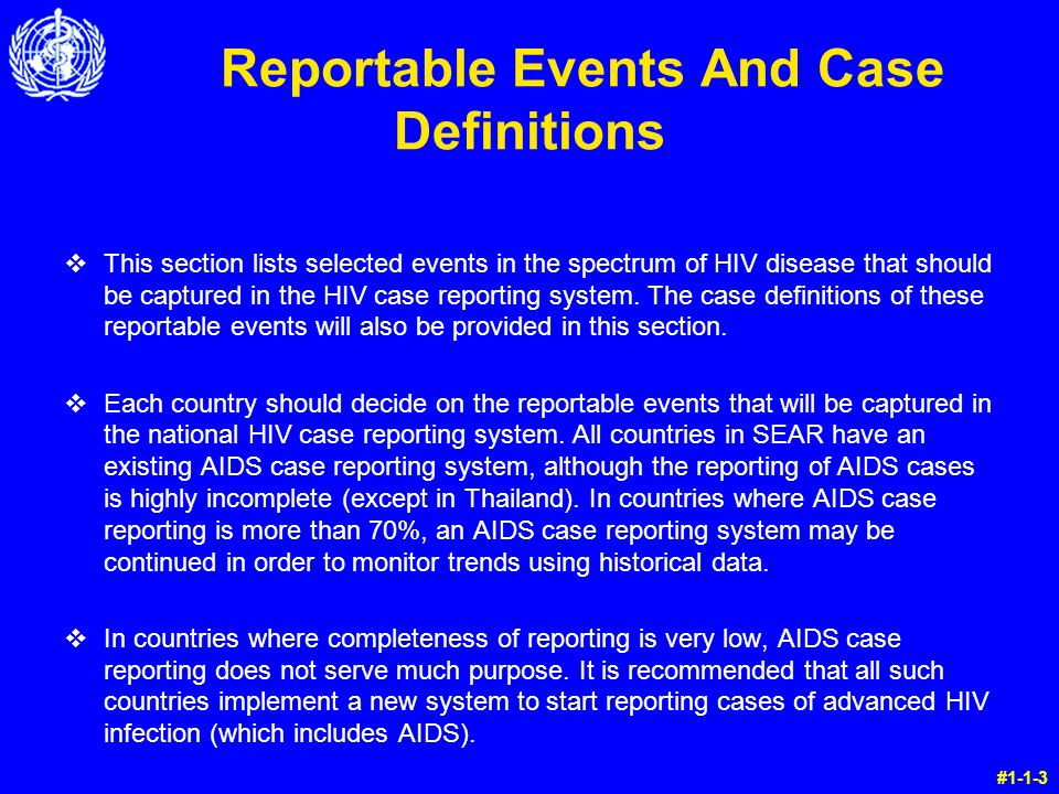 unit 7 operational aspects of the hiv case reporting system ppt rh slideplayer com Geriatric Case Study Meningitis Case Study