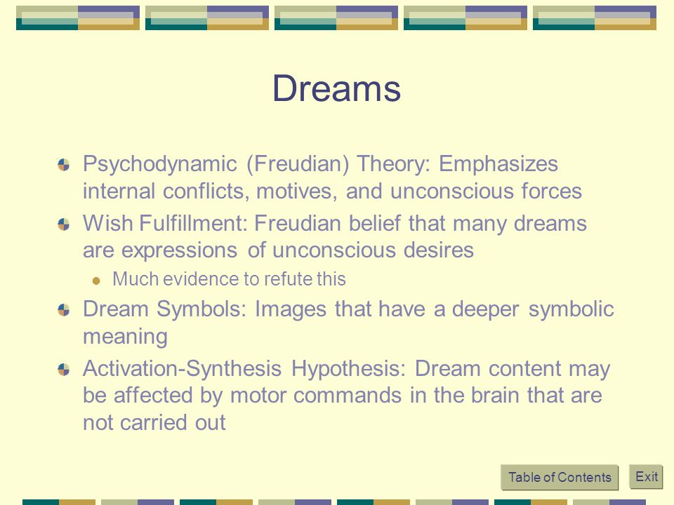 activation-synthesis hypothesis of dreaming emphasizes