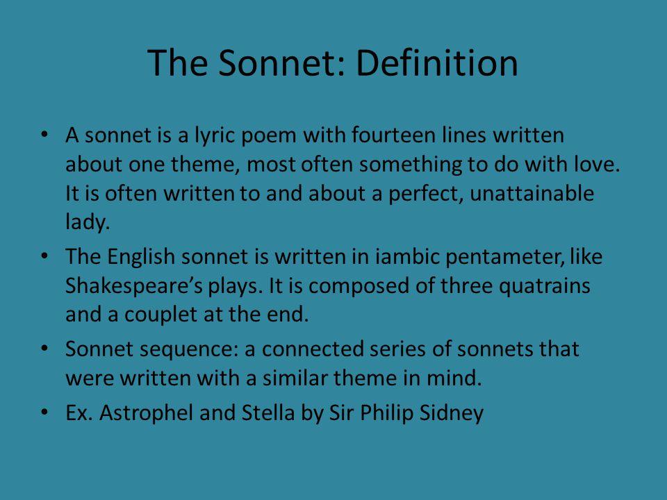 Renaissance Poetry British Literature  The Sonnet: A History