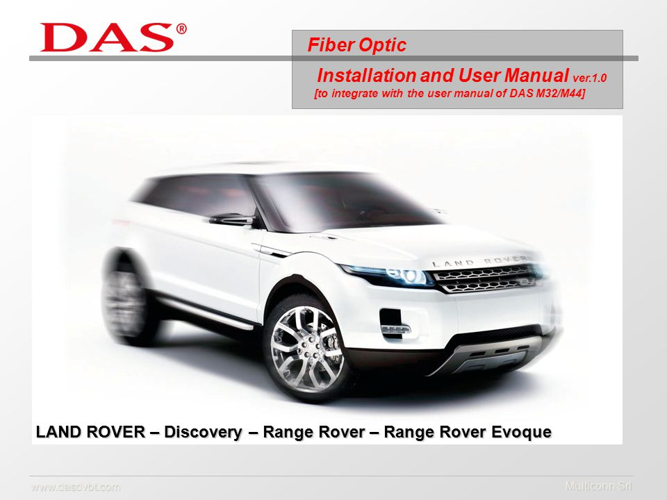 multiconn srl land rover discovery range rover range rover rh slideplayer com Instruction Manual evoque 2017 user manual
