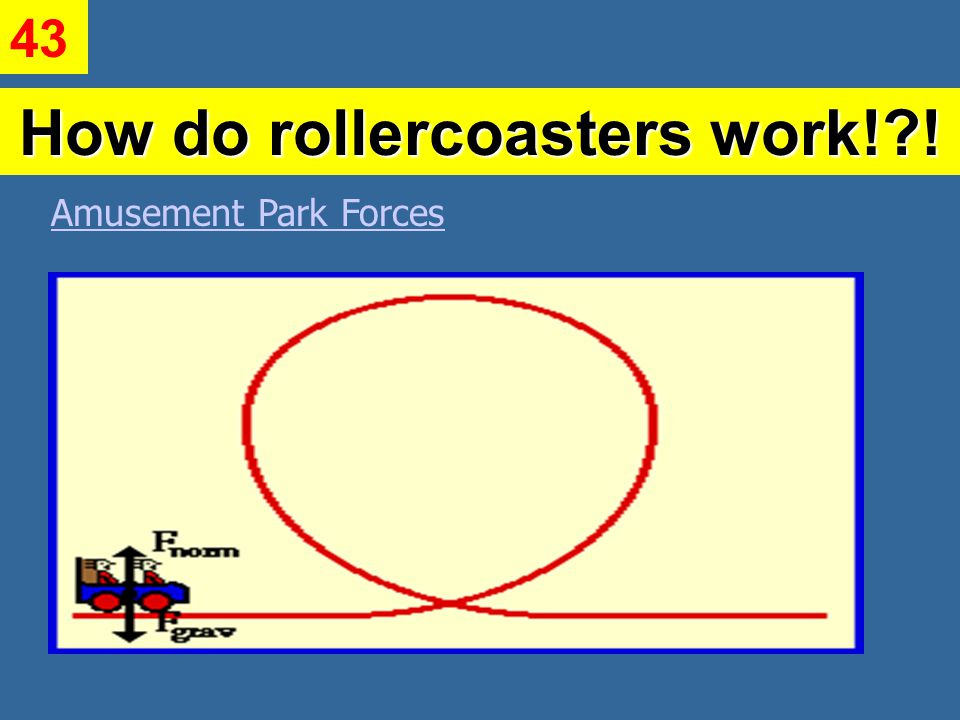 How do rollercoasters work! ! Amusement Park Forces 43