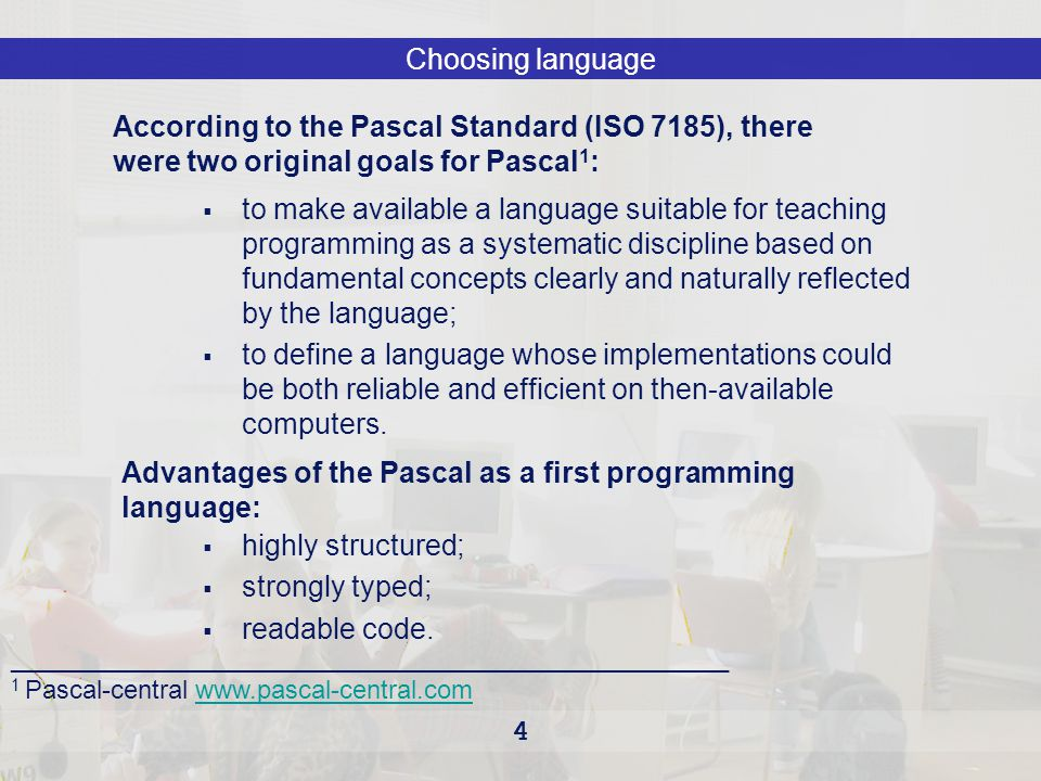 ISO7185 standard Pascal